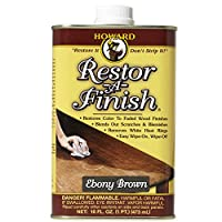 Howard Products RF8016 Restor-A-Finish, 16 oz, Ebony Brown, 16 Fl Oz