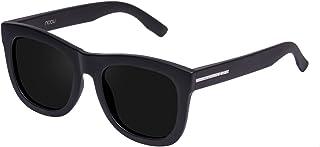 Hawkers Men's CARBON DARK NOBU NOB01 Rectangular Sunglasses, Black, 12 mm