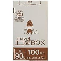 ポリ袋 ごみ袋 黒 ボックスタイプ Bedwin Mart (03_90L, 01_単品)