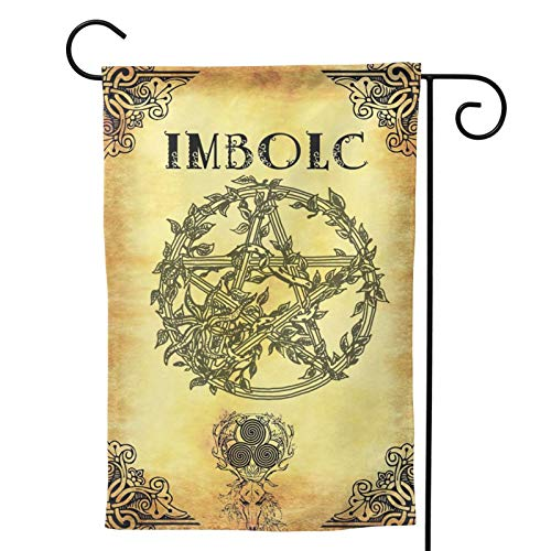 MINIOZE Wicca Imbolc St Saint Brigid Celtic Party Themed Flag Welcome Outdoor Outside Decorations Ornament Picks Garden Yard Decor Double Sided 12.5X 18 Flag