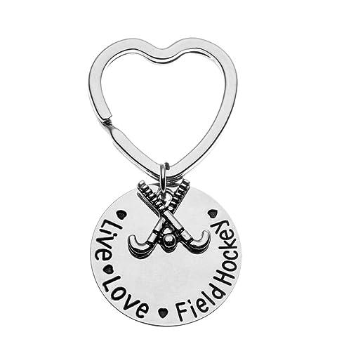 Hockey Jewelry Infinity Collection Hockey Gift Hockey Charm Keychain for Hockey Players Hockey Moms /& Coaches Hockey Keychain