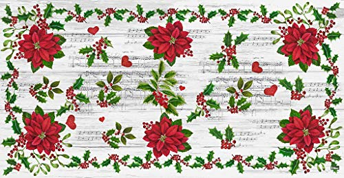 Vilber Alfombra Vinilo Flor Navidad Color 1, 52X140