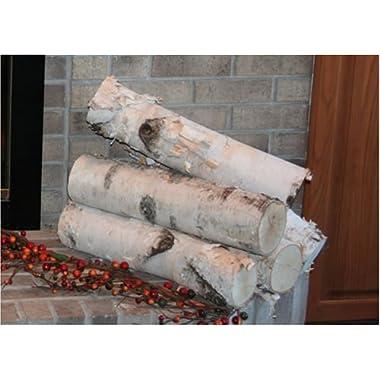 Large Birch Fireplace Log Set (5 Logs: 3''-5'' Dia. x 18  long)