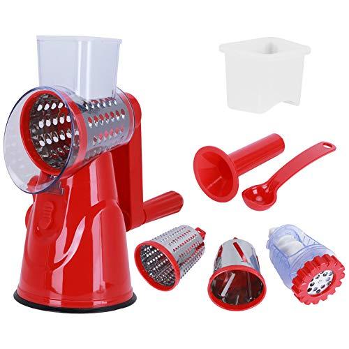 Manueller Fleischwolf, langlebiger, müheloser BPA-freier Fleischhacker, spülmaschinenfest, hocheffizient für das Heimrestaurant(red)