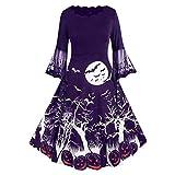 Dream Room Kleider Halloween Damen Elegant 50er Jahre Petticoat Kleider Gepunkte Rockabilly Kleider...