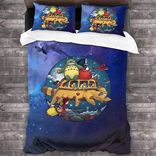 Ghibli World Bettwäsche Set von 3 Fuß Steppdecke...