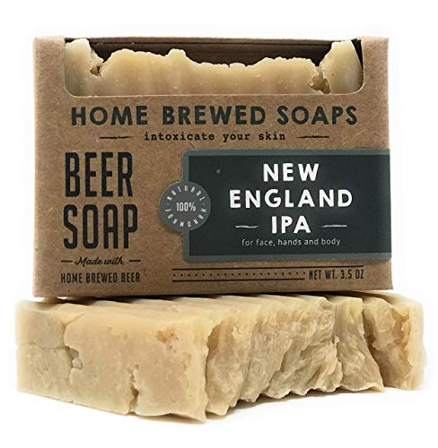 Beer Soap, Handmade Soap, 1-3.5 oz New England IPA Beer Soap Bar, Home Brewed Soaps