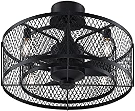 Fanimation Studio Collection LP8350BLAZ Vintere Ceiling Fan with LED Light Kit, 20 Inch, Aged Bronze