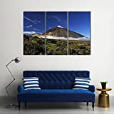 QUANQUAN Lona Murales Cuadro Moderno en Lienzo 3 Piezas XXL Impresiones En Pico nevado del Teide HD Arte De Pared Imágenes Modulares Sala De Estar Decoración para El Hogar 150X70Cm