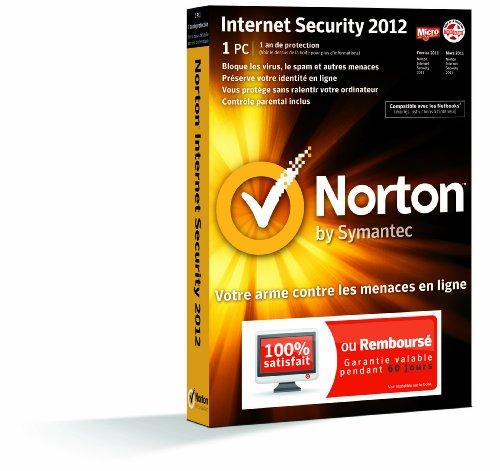 Symantec Norton Internet Security 2012, 1u, 1y, CD, WIN, FRE