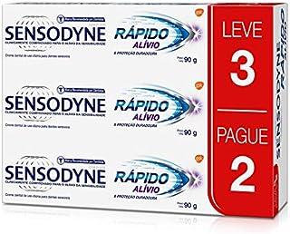 Kit Leve 3 Pague 2 Rápido Alívio, Sensodyne, 90g, Sensodyne, 90g, pacote de 3
