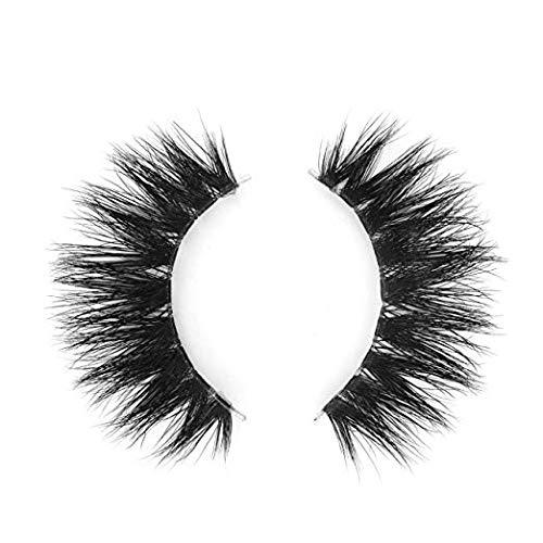 BEPHOLAN Mink Lashes | 100% Siberian Mink Fur False Eyelashes | Dramatic Round Look | 3D Layered Effect | 100% Handmade & Cruelty-Free | Reusable | XMZ10