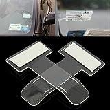 Calistouk Soporte Pinzas con Cinta Adhesiva para Parabrisas para Colgar Etiquetas Clip de Coche o permisos de Coche (2 Unidades)