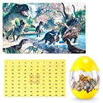 Dinosaur Puzzle, Wooden Puzzles 60 Pieces Puzzles for Kids 3 Years+ Dino Toys 2 Pack Boys Girls Gift 12 ❤SUPER HUGE SIZE DINOSAUR EGG TOY:8.7'' * 5.2 '' , kids need two hands to hold it, combining dinosaur egg with dinosaur puzzle, all kids love it! ❤THE BEST GIFT: Dinosaur Puzzle is suitable for children of 4-5-6-7-8-9-10-11-12 years old as a gift, Christmas, Easter, birthday, game party. ❤EDUCATIONAL DETAILS: This children's dinosaur puzzle allows kids to explore our prehistoric time period, learning about the environment in which the dinosaurs from millions of years ago lived.