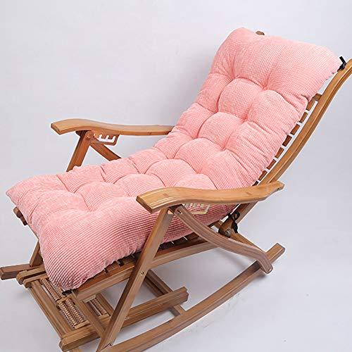 qwert Garten Im Freien Polster Für Schaukelstuhl Cord Verdicken Hochlehner Stuhl Sitzkissen Auflage Tragbar Stuhl Sonnenliege Kissen(Kein Stuhl) Rosa 120x48cm(47x19inch)
