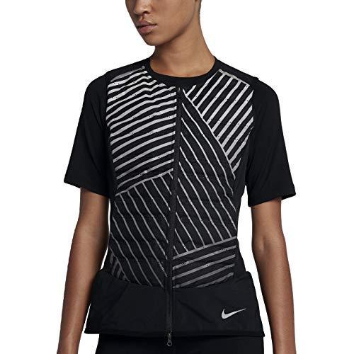 Nike AeroLoft Flash Women's Running Vest (Black/Metallic Silver, X-Large)