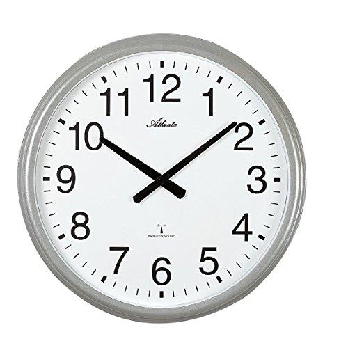 Atlanta 4449 Horloge Murale Radio-pilotée XXL en métal pour l'intérieur et l'extérieur 43 cm