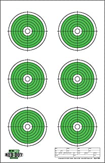 Red Dot Optics Style 6: Six 4' Bullseyes by EZ2C Targets | Paper Targets | High Visibility Firearms and Rifles Targets 11
