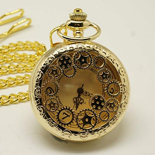 Lx pocket watch Flip-Gang elektronische Taschenuhr Retro Pullover Kette Gyro Tisch Männliche und weibliche Studenten Persönlichkeit ausgehöhlt Uhr