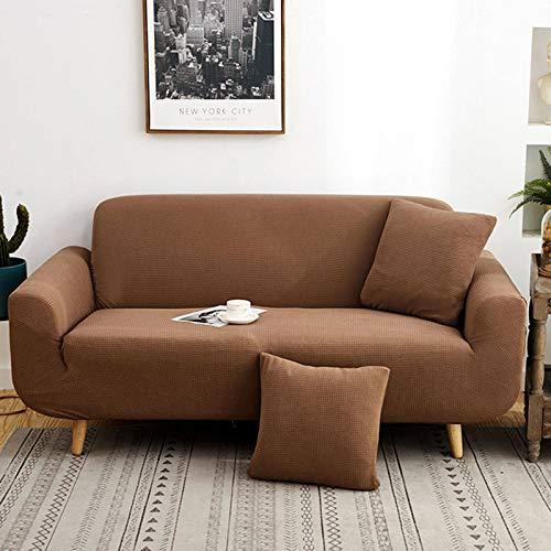 FKING Funda elástica de jacquard, suave, antideslizante, a prueba de polvo, funda de sofá para sofá de 1, 2, 3, 4 asientos, 235 – 300 cm