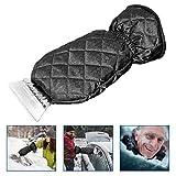 Migimi Grattoir à glace pour voiture - Avec gant pour le gel et la glace - Pour pare-brise de voiture - Grattoir à glace étanche - Avec doublure intérieure chaude
