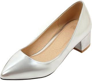 KemeKiss Women Fashion Sexy Pointed Toe Block Mid Heel Dress Pumps