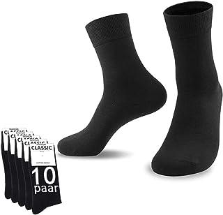 YouShow, Calcetines Hombre Mujer Calcetines de Algodón Unisex 5|10 Pares Negro Ejecutivos Confort