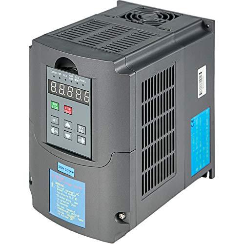 VEVOR Variatore di Frequenza 380V 0.75KW Convertitore Inverter VFD Motore CNC Convertitore Inverter per Router di Fresatura CNC Controllo Velocità Motore Mandrino (0.75 VFD)