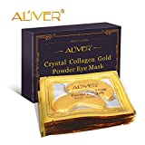 Aliver New Crystal 24K <span class='highlight'>Gold</span> Powder Gel Collagen Eye <span class='highlight'>Mask</span> <span class='highlight'>Gold</span> Eye <span class='highlight'>Mask</span>10 pairs/package