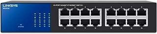 Linksys SE3016 16-Port Gigabit Switch,Black