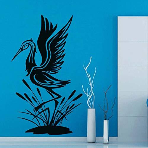BailongXiao Vogel - Reiher - Wandaufkleber für Wohnzimmerdekoration Tierwandkunst Abziehbilder dekozubehör 63x106cm Hause