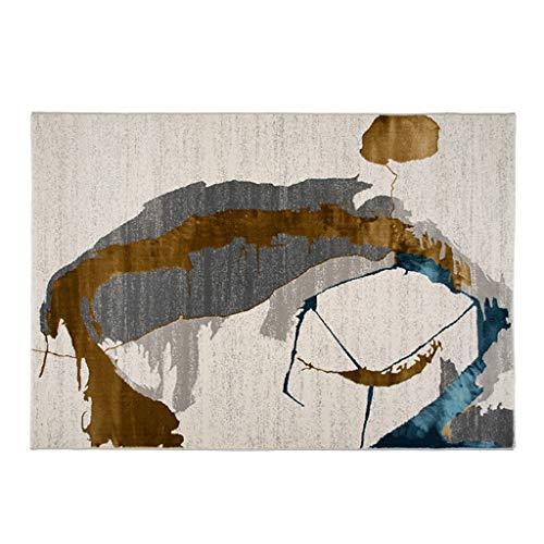 Tapis JXLBB Épaisseur 13mm Lumière Style Nordique Mélange De Soie Moderne Abstrait Gris Or Bleu Simple Américain Style Salon Salon Canapé Chambre Table Basse