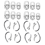 Zotech Earbud Gel & Ear Hook for Plantronics, 12 Pcs (Small/Medium/Large) Clear Replacement Eargel & 8 Pcs Clear Ear Hook, Fit for Plantronics M155 M165 M1100 M100 M55 M28 M25 Voyager Edge