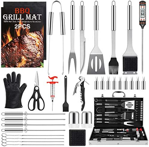 Birald Grill Set BBQ Tools Grilling Tools Set Gifts for Men 34PCS Stainless Steel Grill Accessories product image