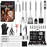 Birald Grill Set BBQ Tools Grilling Tools Set Gifts for Men, 34PCS Stainless Steel Grill Accessories...