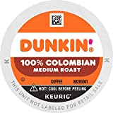Dunkin' 100% Colombian Medium Roast Coffee, 60 Keurig K-Cup Pods
