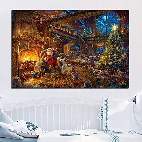 XWArtpic Invierno y Navidad Arte Thomas Kinkade's Canvas
