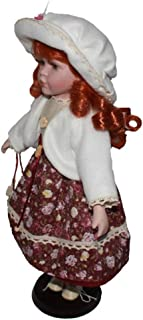 Baosity Porcelain Doll Girl Figures with Adjustable Display Support Victorian Female Figures Collections Beautiful Figurines Statues