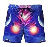 Shorts Hombres Verano Casual Playa Pantalones Cortos 3D Impresión Universo Galaxia Vintage Fashion Boardshorts Bañadores De Natación