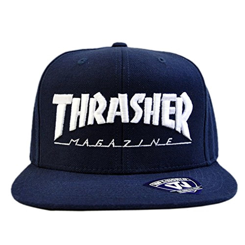THRASHER スラッシャー MAG LOGO SNAPBACK CAP / NAVY [15TH-C50] 2017年SS キャップ 帽子 ロゴ 刺繍 定番 メンズ