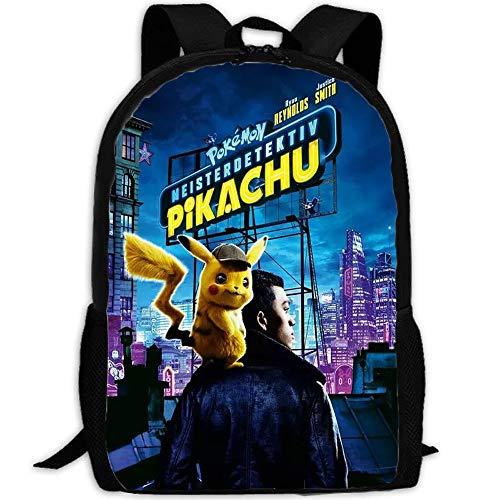 XWXBB Pikachu Mochila Escolar para Niños Niño Mochila Escolar Chica Detective Pikachu
