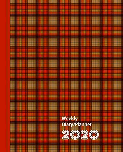 Orange Mix Plaid Check Design: Diary Weekly Spreads January to December (Planners One Year 2020, Band 1)