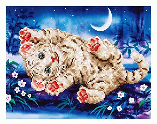 Pracht Creatives Hobby DD5-005 - Diamond Dotz Baby Tiger, funkelndes Diamantbild zum Selbstgestalten, ca. 35,5 x 27,9 cm groß, Malen mit Diamanten, neuer und kreativer Basteltrend
