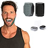 SOL STRONG Jawline Exerciser - 4 Piece Pack Face Exerciser for Slimmer Toned Face, Chisell Jawline, Strengthening Neck Muscles Jaw Exerciser for Men Women (2x40lb) & (2x50lb) Workout