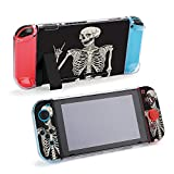 SUPNON Carry Case Compatible with Nintendo Switch, Ultra Slim Hard Shell, Protective Carrying Case for Travel - Human Skeleton Posing Isolated Over Black Design36770