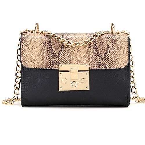 OSYARD Damen Schlange Muster Schultertaschen Frauen Handtaschen Messenger Taschen CrossbodyBag Kette Paket Schulter Mode Mini Tasche Umhängetasche