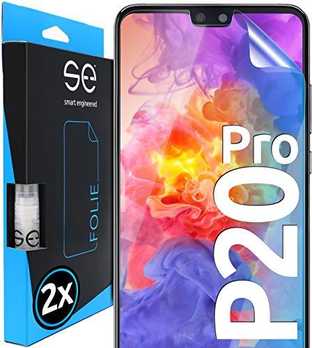 smart engineered [2 Stück] 3D Schutzfolien kompatibel mit Huawei P20 Pro, hüllenfreundliche transparente HD Displayschutz-Folie, Schutz vor Schmutz und Kratzern, kein Schutzglas
