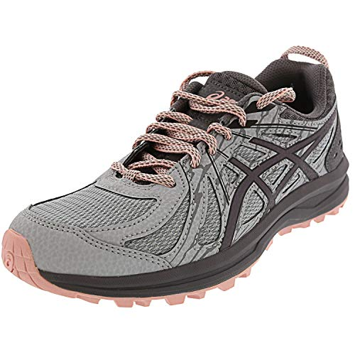 ASICS Women's Frequent Trail, Mid Grey/Carbon, 8.5 D