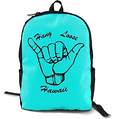 Kimi-Shop Hawaii Hang Loose Adultos Hombres Mujeres Unisex Sport Funny Style Shoulders Bag