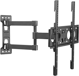 TV Stand Retractable Wall Mount HDTV Full Dynamic Home Rotating Articulated Arm VESA Up to 400 * 400mm (Color : Black, Siz...